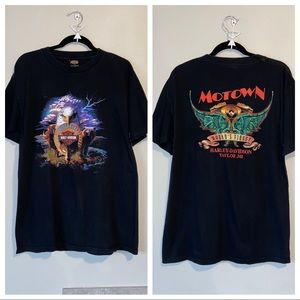 Harley Davidson Motown Circa 2000 Black Tee Sz L